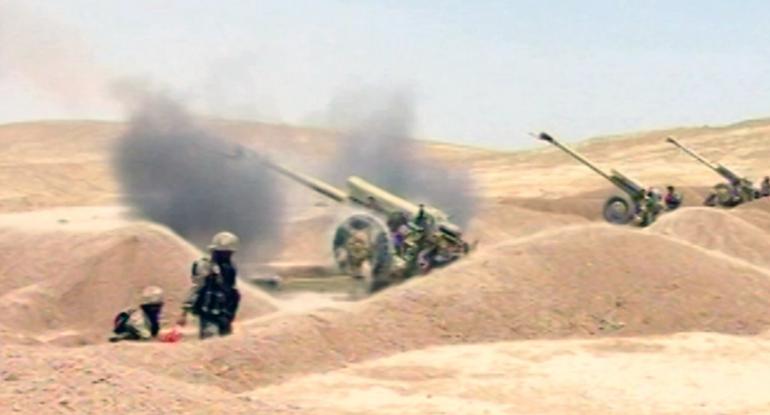 Azərbaycan Ordusunda artilleriya bölmələrinin təlimləri keçirilir