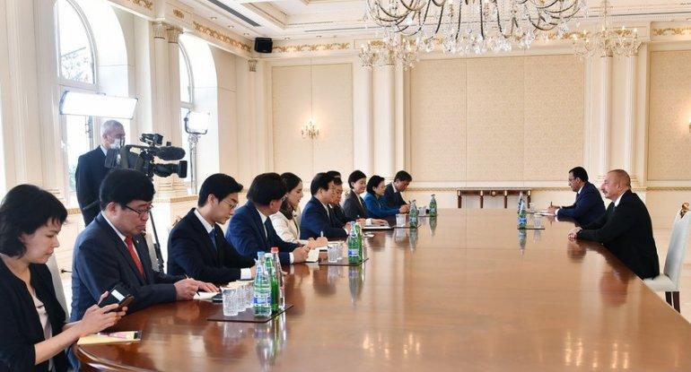 İlham Əliyev Koreya Milli Assambleyasının sədrini qəbul etdi - YENİLƏNİB + FOTO