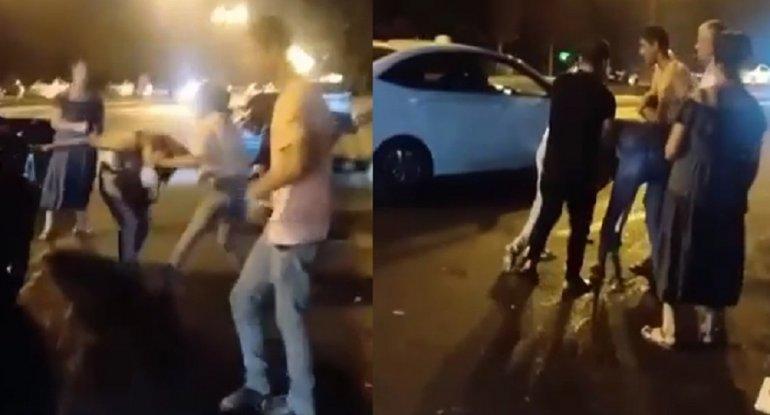Bakıda qızlar əlbəyaxa davaya çıxdılar - VİDEO