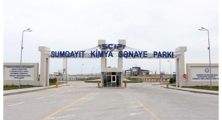 """Sumqayıt Kimya Sənaye Parkında """"Azmonbat"""" MMC-nin açılışı olub"""
