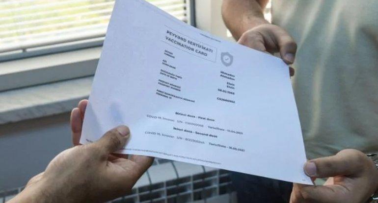 250 manata saxta vaksin sənədi satan həkimlərə cinayət işi açıldı