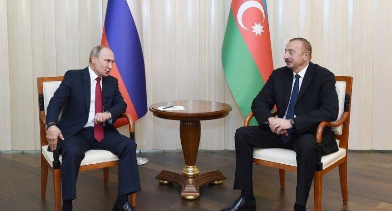 İlham Əliyev Putinlə danışıqlarının detallarını açıqlayıb