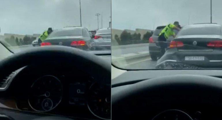 Bakıda maşınları əzərək polisdən qaçan avtoxuliqan saxlanıldı - VİDEO