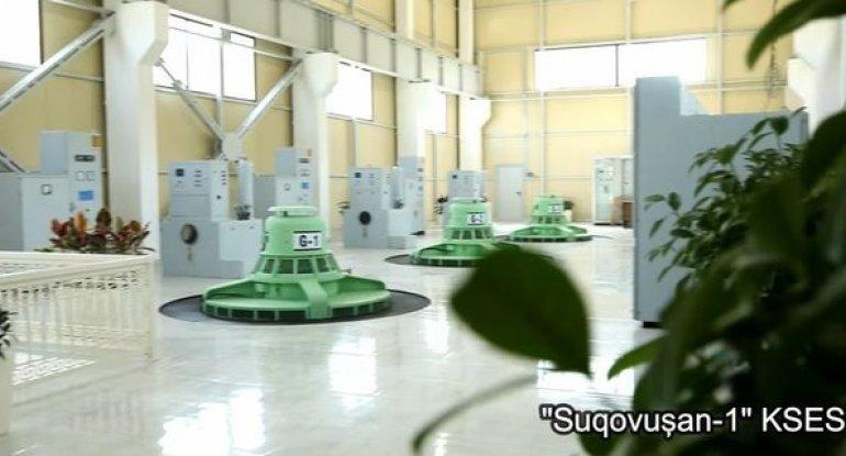 Suqovuşan elektrik stansiyasından yeni görüntülər - VİDEO