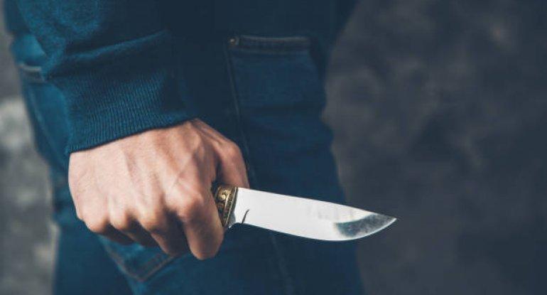 Azərbaycanda polis əməkdaşı bıçaqlandı