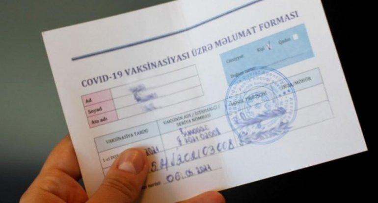 Şamaxıda qanunsuz COVID-19 pasportu satan şəxslərə cinayət işi açılıb